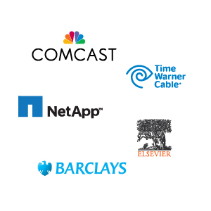 Sungard, Comcast, Time Warner Cable, NetApp, Elsevier, and Barclays